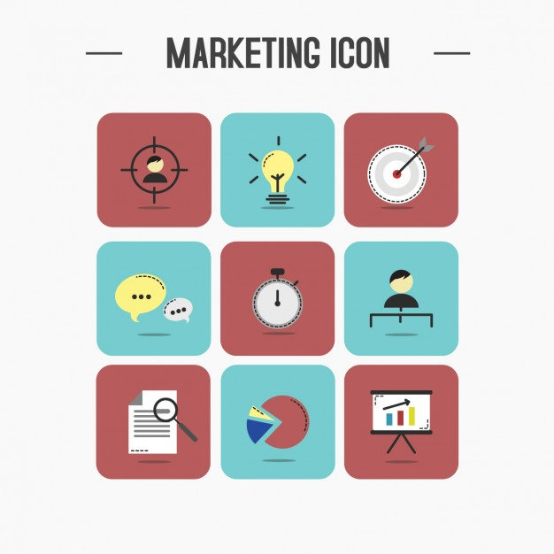 626x626 Marketing Icons Collection Vector Free Download