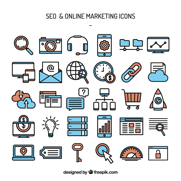 626x626 Seo And Online Marketing Icons Vector Free Download