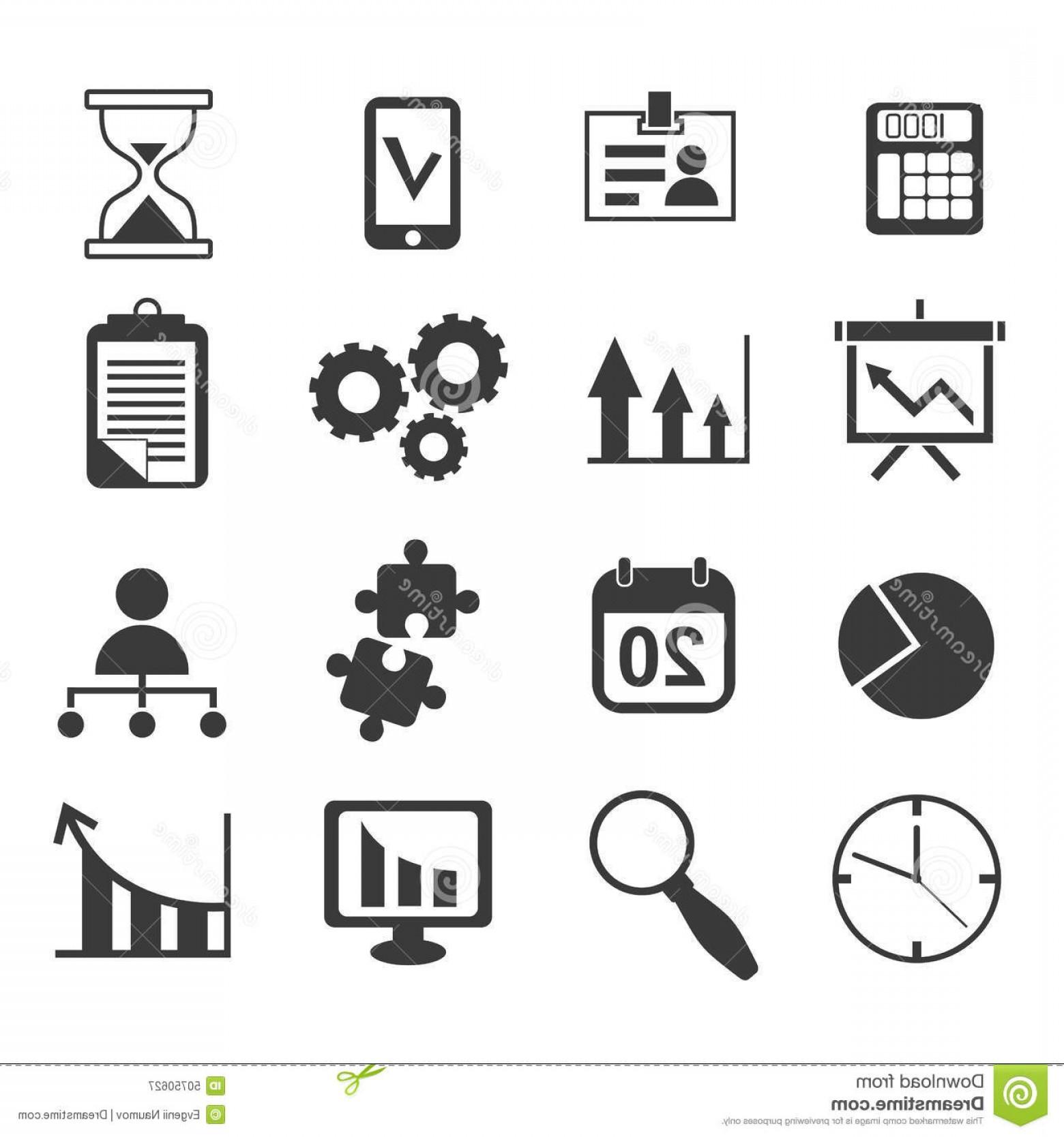 1560x1668 Stock Illustration Business Analyst Marketing Icon Vector Set