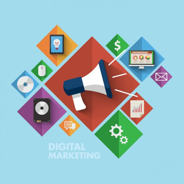 626x626 Coloured Digital Marketing Icons Vector Free Download