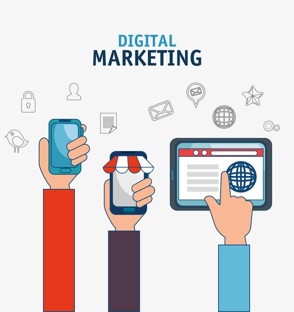 600x636 Digital Marketing Flat Business Template Vector 07 Free Download