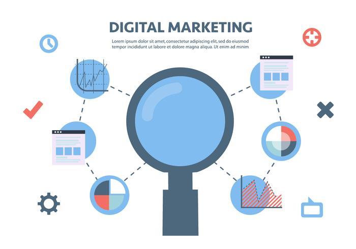 700x490 Flat Digital Marketing Vector Background