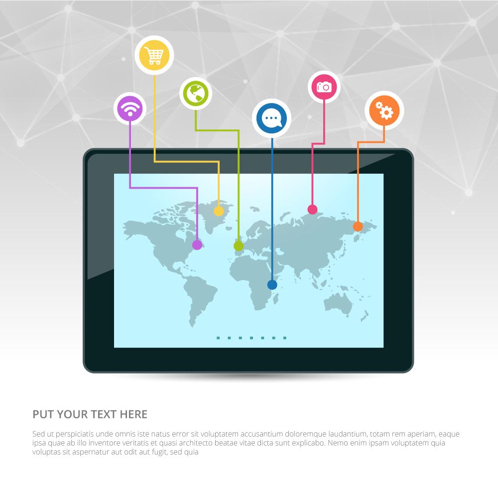 1000x1000 Internet Marketing Vector Design