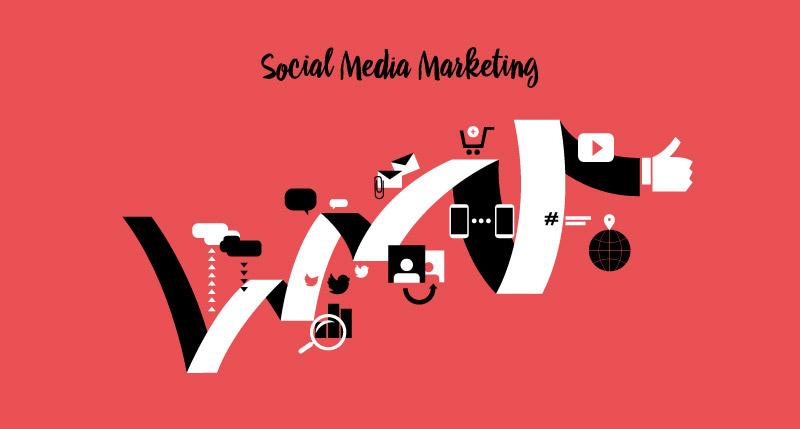 800x429 Social Media Marketing Vector Art