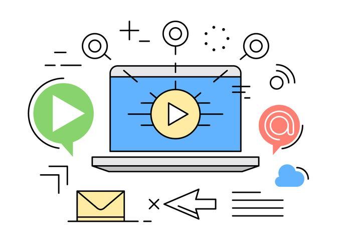 700x490 Digital Marketing Vector Illustration