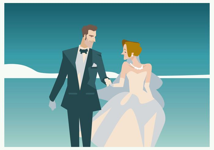 700x490 Couple In Marriage Vector