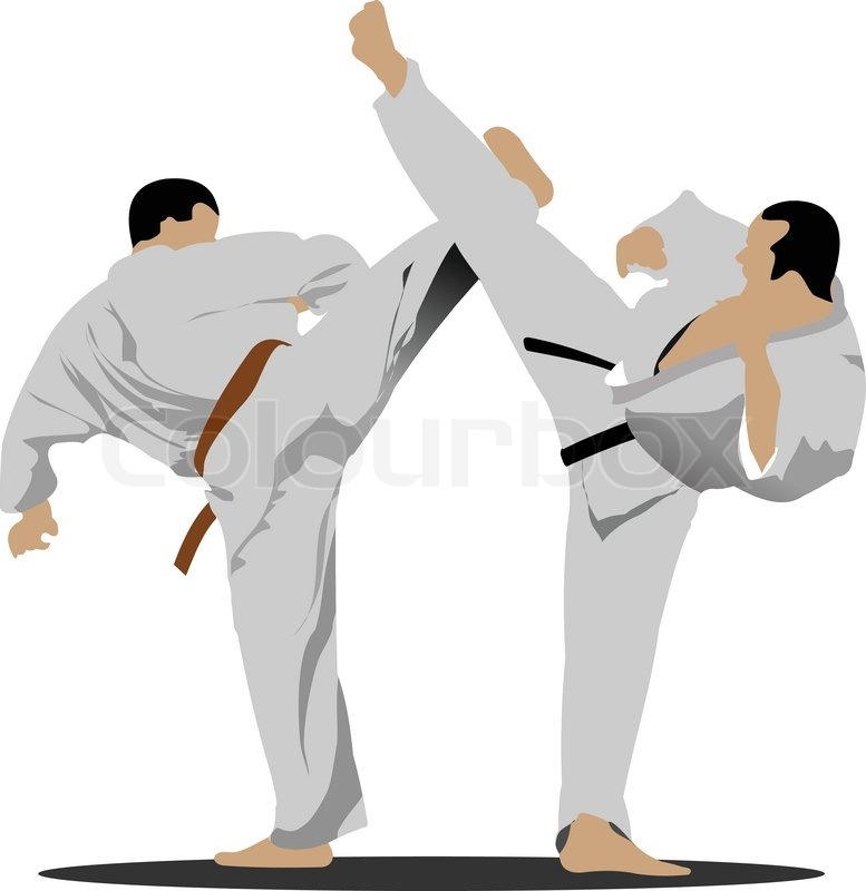 777x800 Oriental Combat Sports. Karate Stock Vector Colourbox