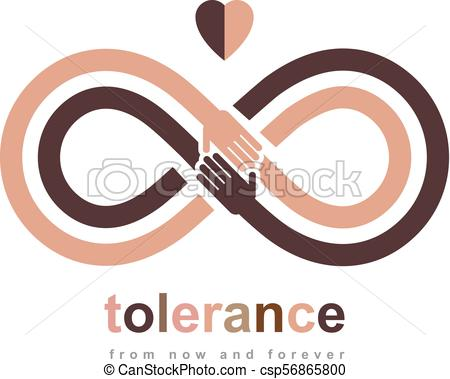 450x379 Racial Tolerance Conceptual Symbol, Martin Luther King Day, Zero