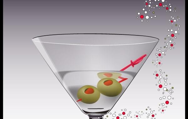 600x380 Free Vectors Martini Glass Vector Traitdesigns