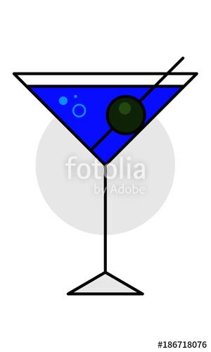 300x500 Martini Glass Vector Illustration. Cocktail Glass Icon. Stock
