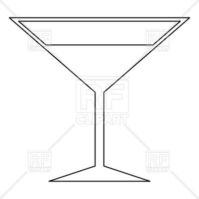 400x400 Martini Glass Black Color Icon Vector Image Vector Artwork Of