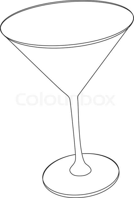 542x800 Vector Illustration Of Cocktail Glass Stock Vector Colourbox