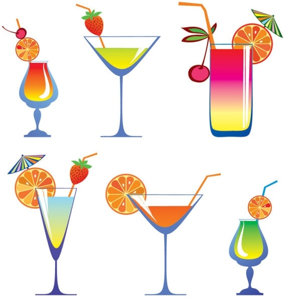 568x594 Cartoon High Glass And Juice 01 Vector Free Vector In Encapsulated