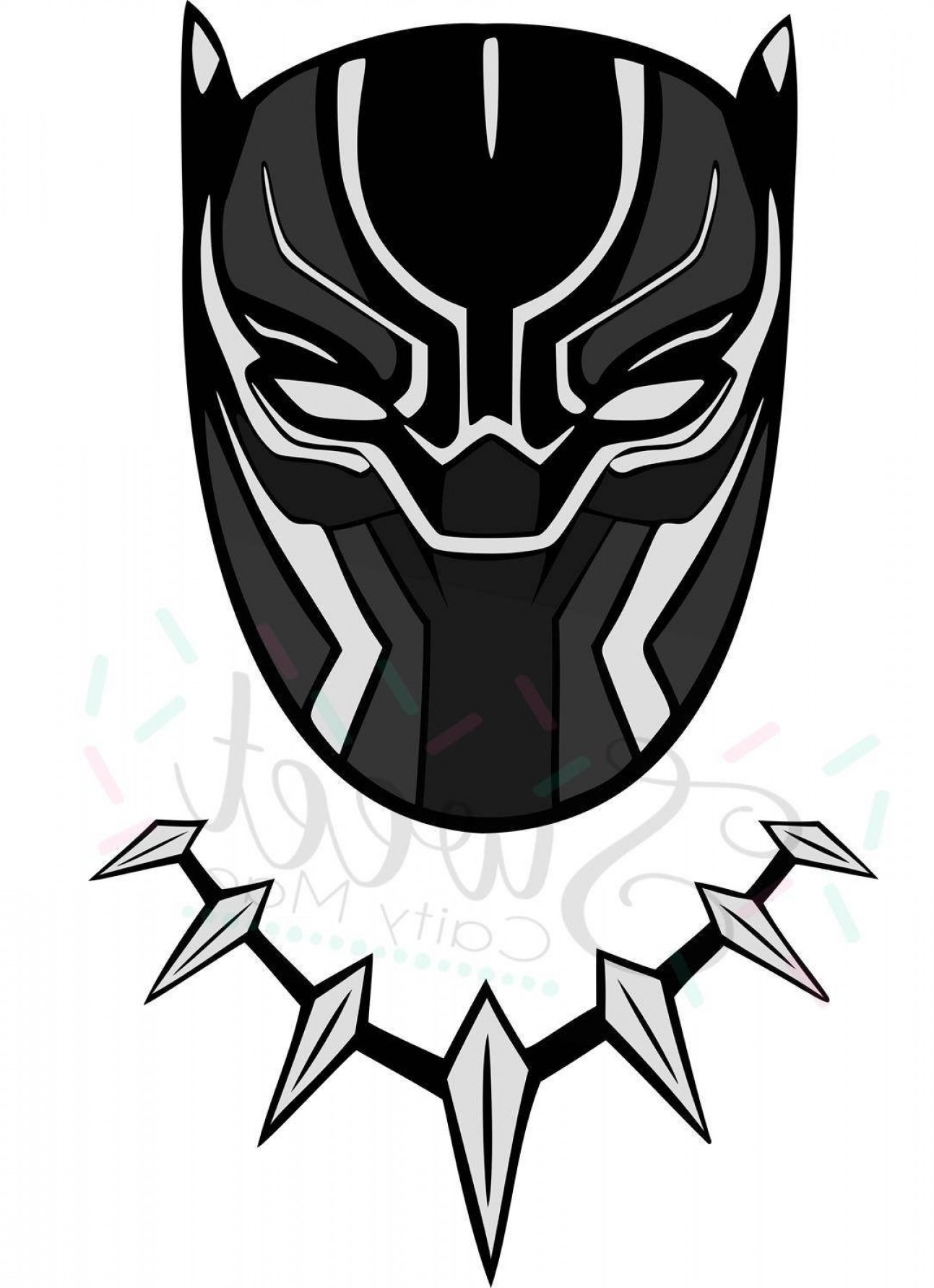1293x1782 Black Panther Marvel Vector Inspirational Black Panther Clipart