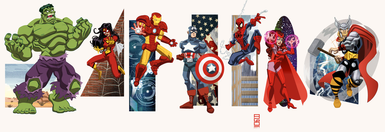 1280x439 Marvel Universe Vol1 Avengers By Alexmax