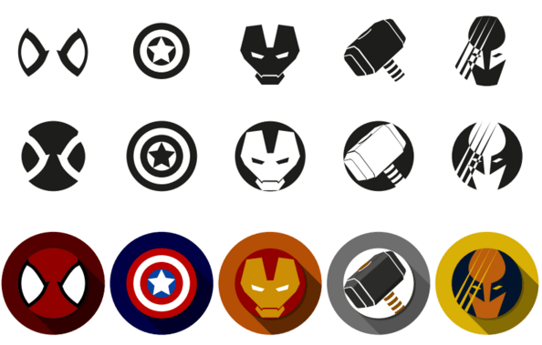 594x379 Free Marvel Super Heroes Icon Font Vector