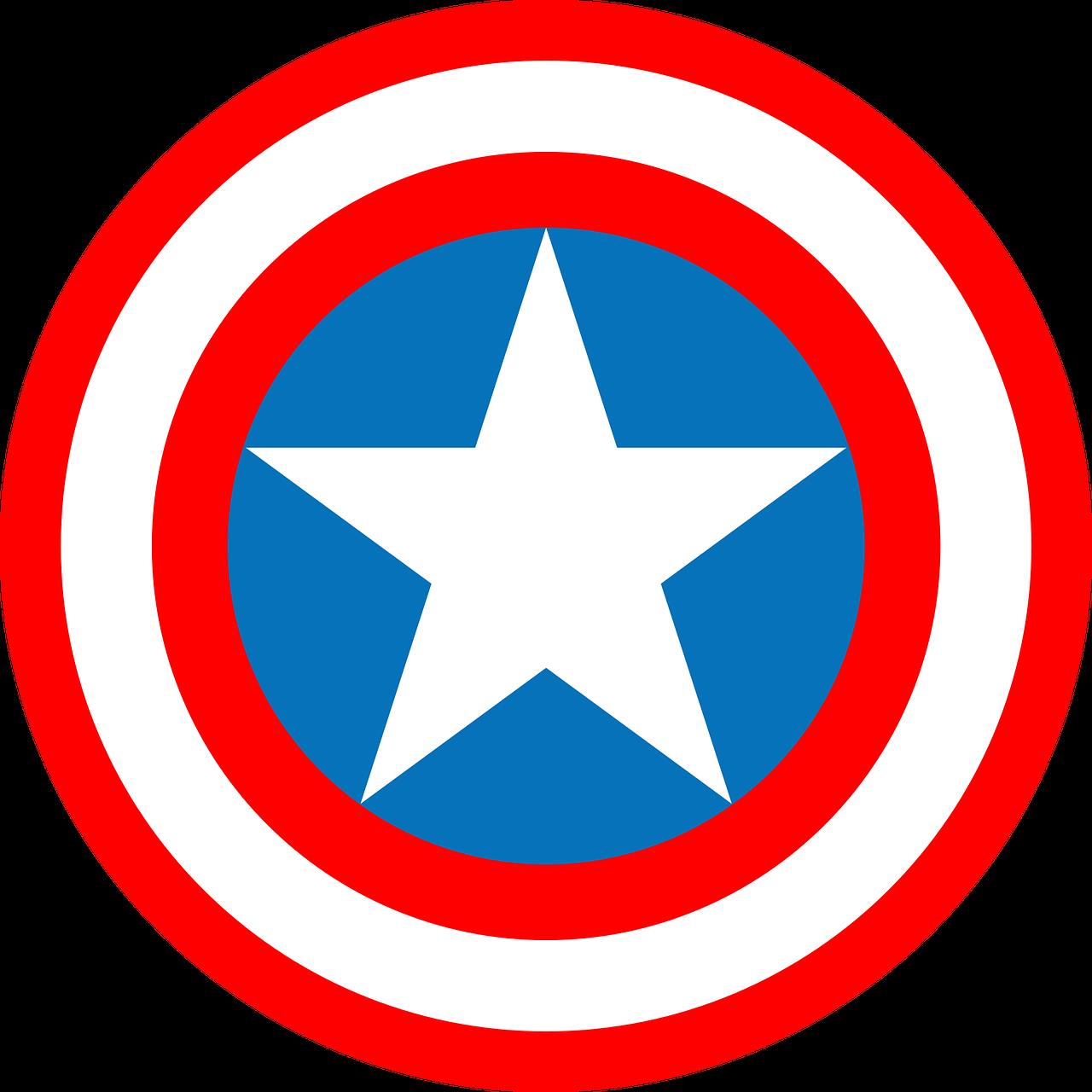 1280x1280 Logo,captain America,marvel,marvel Comics,free Vector Graphics