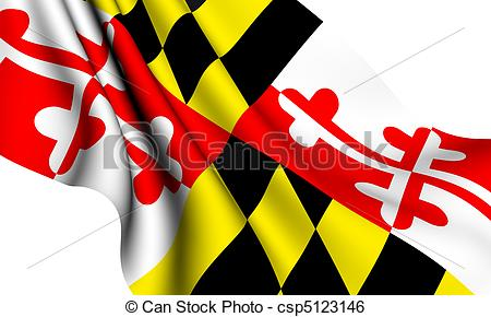 Maryland State Flag Vector