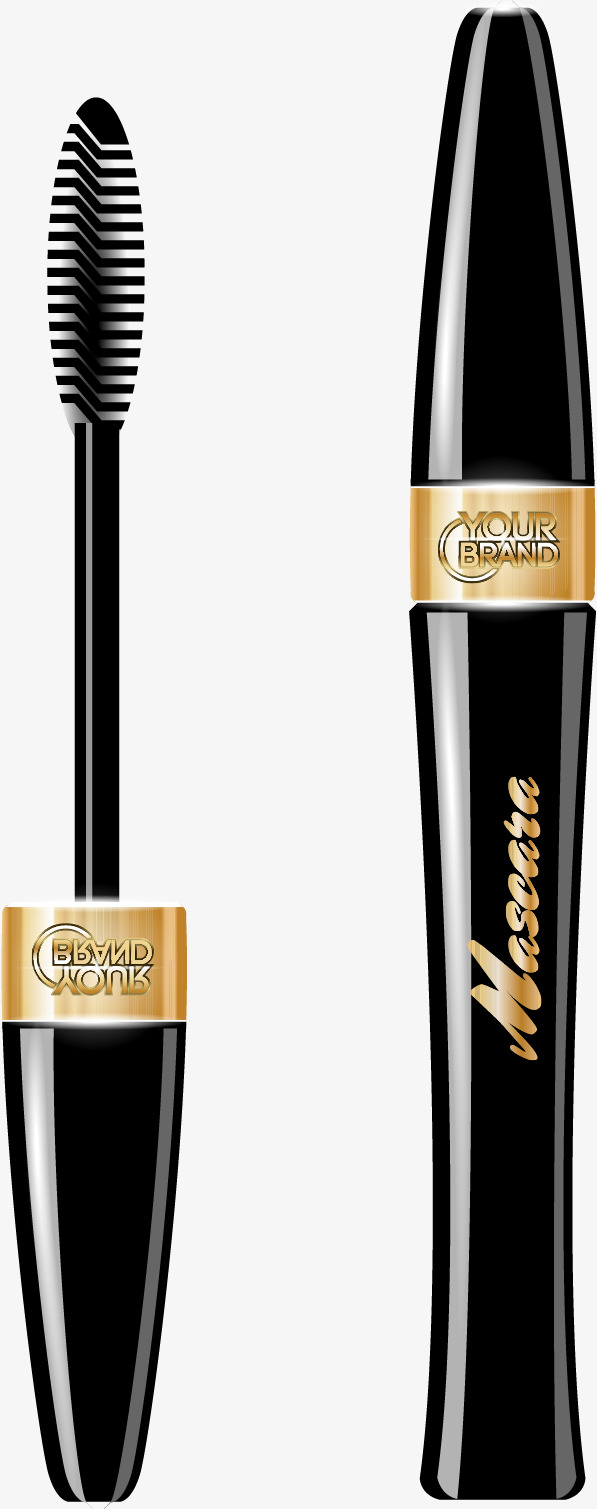 597x1509 Vector Hand Painted Mascara, Hand Vector, Vector, Hand Painted Png