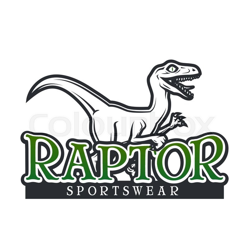 800x800 Dino Logo Vector Template. Raptor Sport Mascot Logotype Design