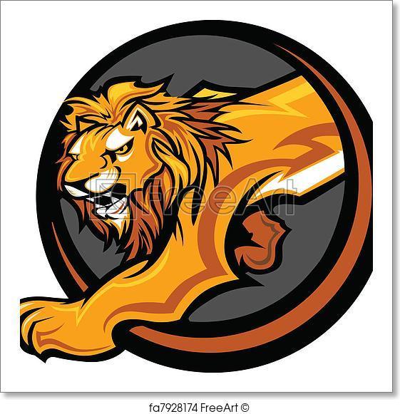 561x581 Free Art Print Of Lion Mascot Body Vector Graphic. Graphic Mascot