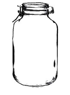 mason jar outline vector at getdrawings com free for personal use