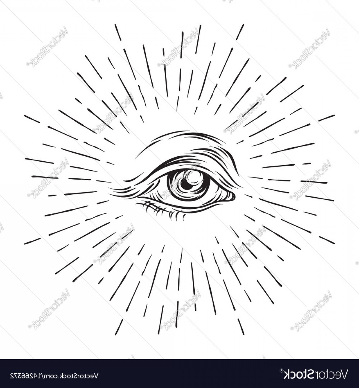 1200x1296 Eye Of Providence All Seeing Eye Masonic Symbol Vector Lazttweet