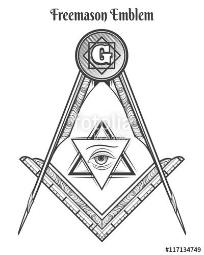 400x500 Freemason Square And Compass, Vector Freemasonry Signs And Mason