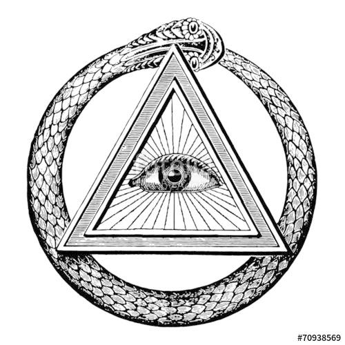 500x500 Masonic Snake Eye Stock Image And Royalty Free Vector Files On