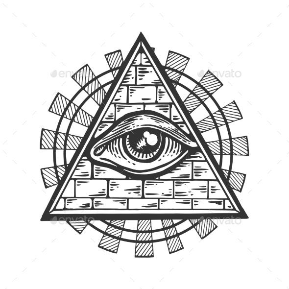 590x590 Masonic Symbol Engraving Vector Illustration By Alexanderpokusay