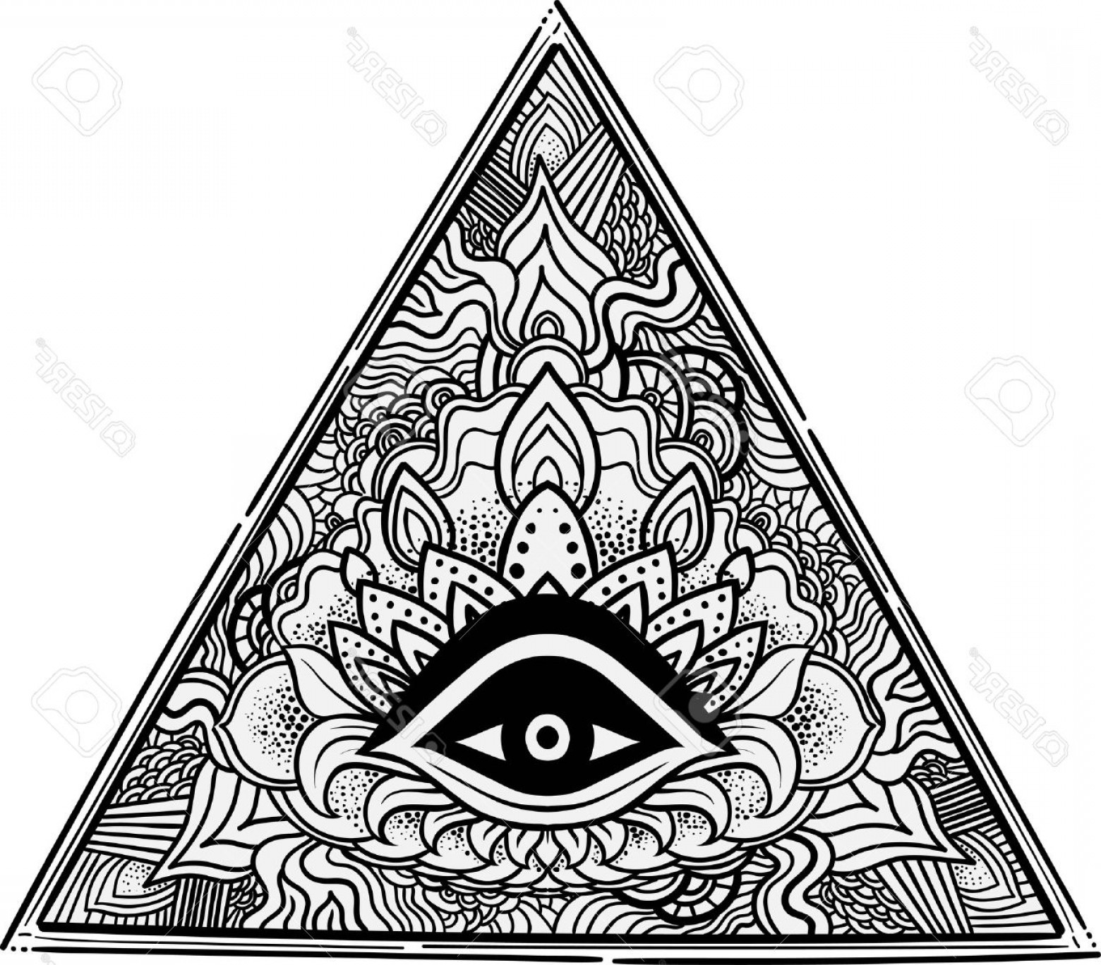 1560x1368 Photostock Vector Eye Of Providence Masonic Symbol All Seeing Eye