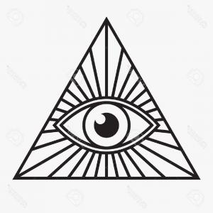 300x300 Photostock Vector Masonic Symbol All Seeing Eye Inside Triangle