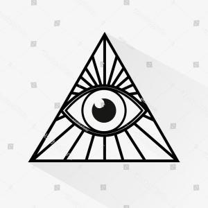 300x300 Photostock Vector Seeing Eye All Seeing Eye Inside Triangle