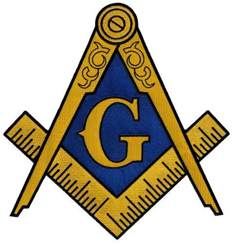 478x500 Masonic Logo Large Patch Embroidered Iron On Freemason