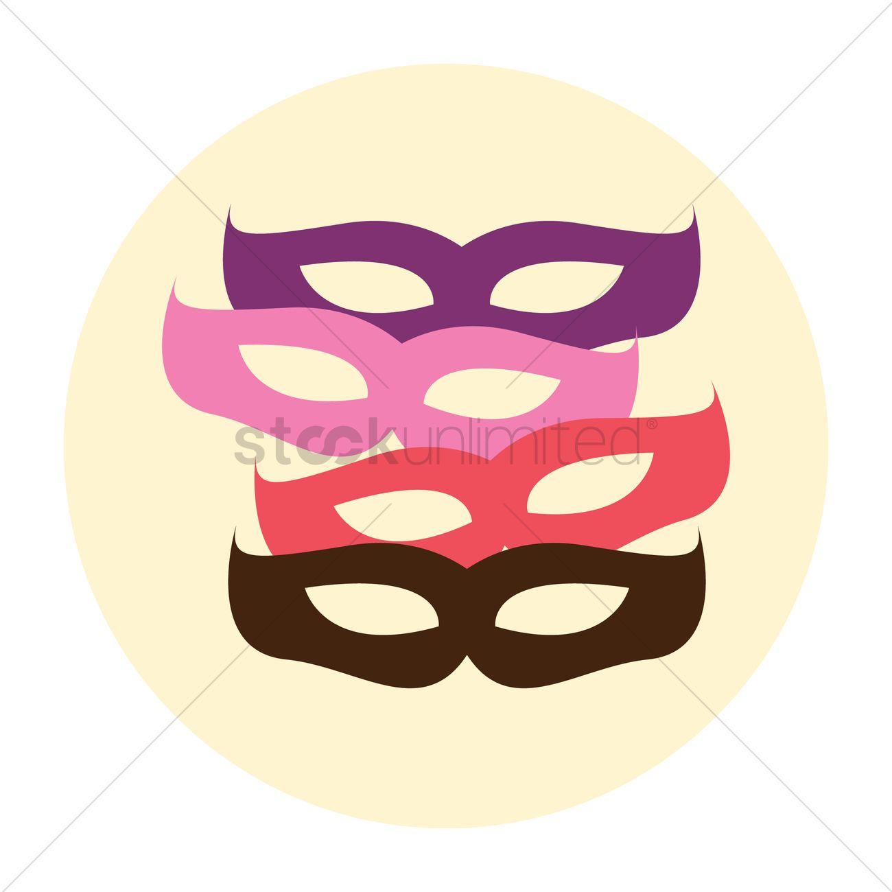 1300x1300 Free Masquerade Masks Vector Image