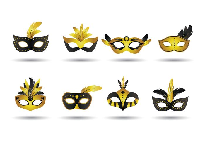 700x490 Masquerade Mask Vector