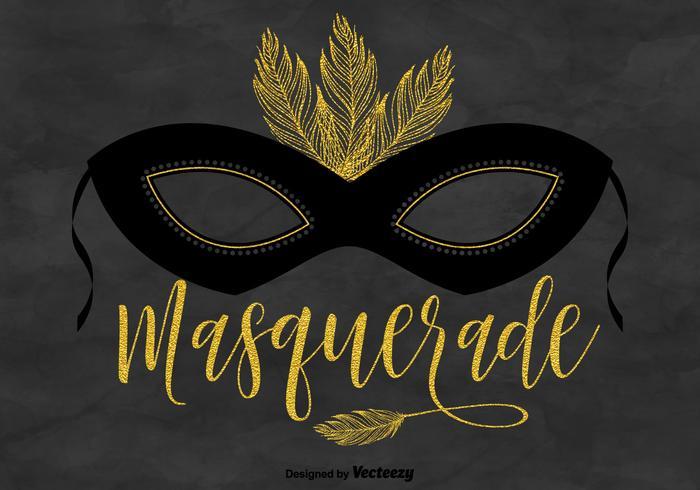 700x490 Masquerade Mask Vector Background