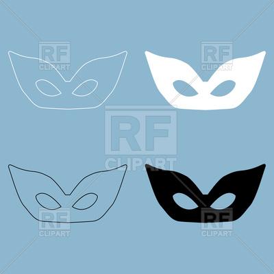 400x400 Masquerade Mask On Blue Background Vector Image Vector Artwork