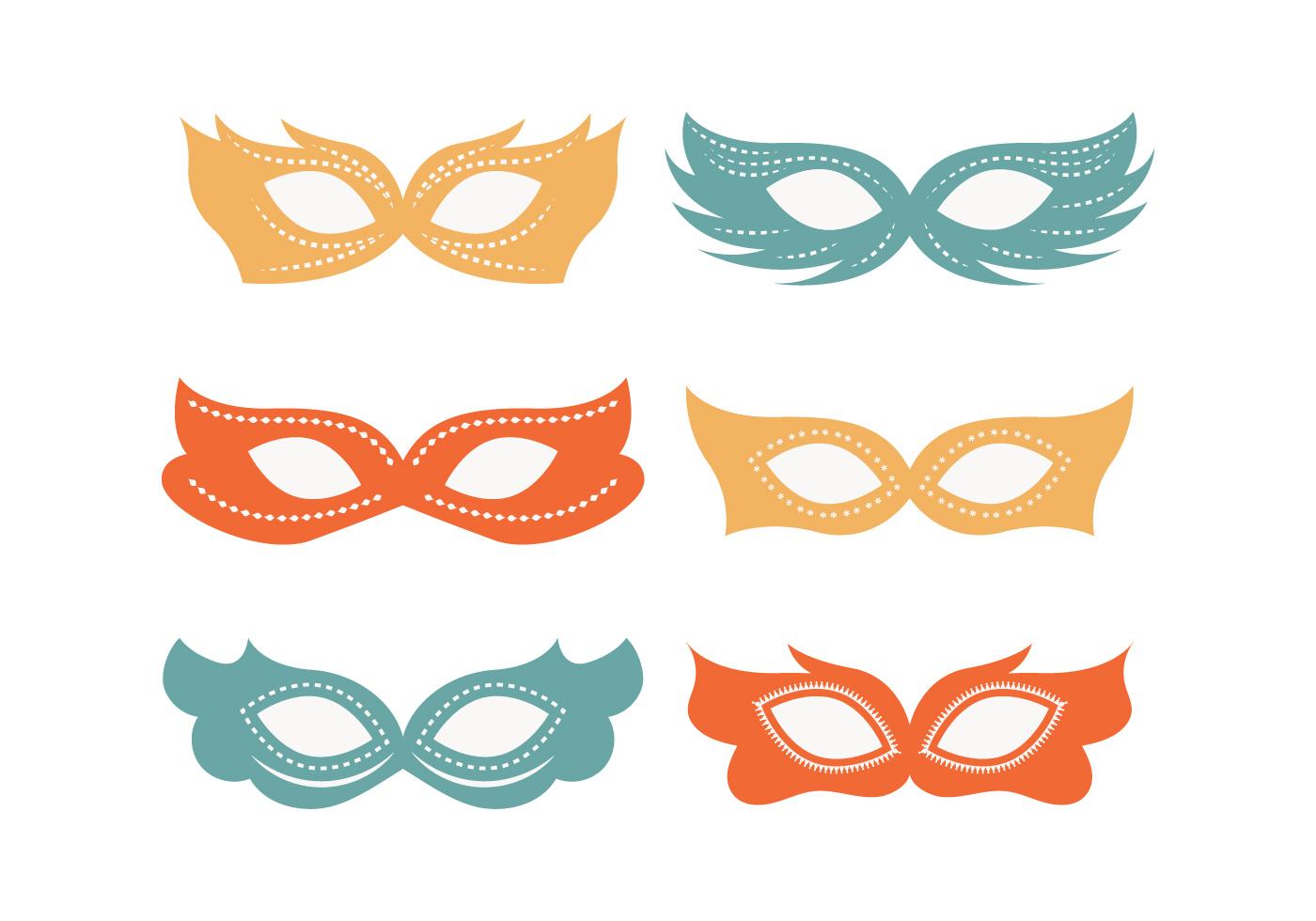 1400x980 Venetian Mask Free Vector Art