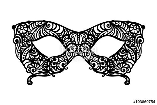 500x334 Patterned Masquerade Mask Stock Image And Royalty Free Vector