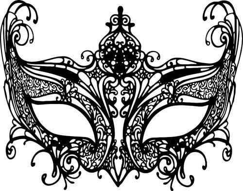 500x393 Black Masquerade Mask Clipart