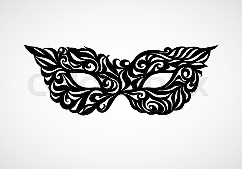 800x560 Black And White Isolated Masquerade Mask. Eps8. Rgb. Global Color