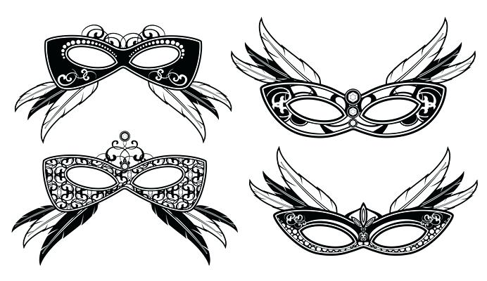 692x400 Free Masquerade Clip Art Masquerade Masks With Lace Luxury Pattern