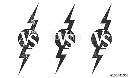 500x300 Vs Versus Vector Icon For Sport Match Competition Or Challenge