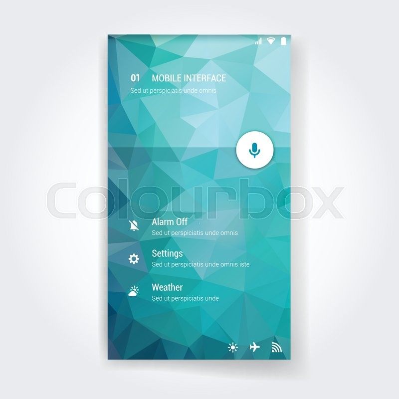 800x800 Modern User Interface Screen Template For Mobile Smart Phone Or