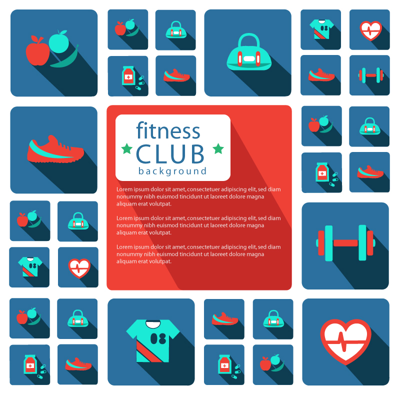 800x800 Preview Fitness Club Icon Design Vector Material