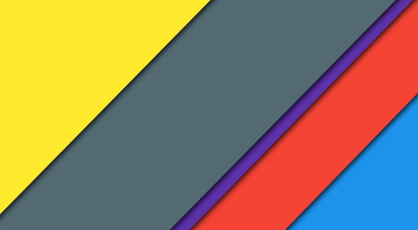 1366x752 Vector Material Design Wallpaper
