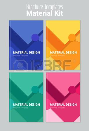 305x450 Abstract Material Design Textured Background Brochure Templates