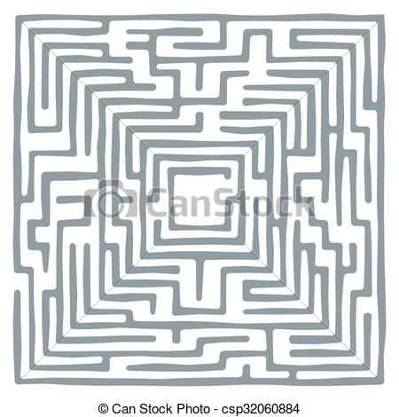 450x470 Vector Maze. Vector Illustration Of Labyrinth. Some Wrong