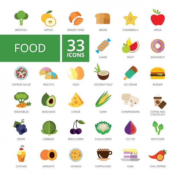 626x626 Free Food Vector Graphics And Characters For Tasty Projects